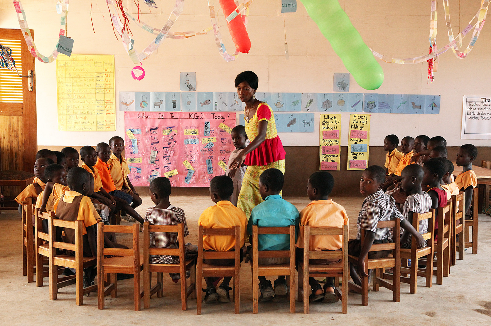 ghanaian children sat in classroom